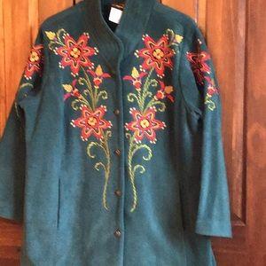 Bob Macki Embroiderd Jacket Sz 1X